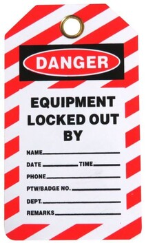 Lock Out Tag